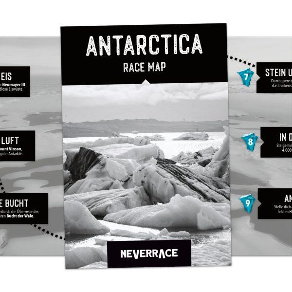 Race Map - Neverrace Antarctica