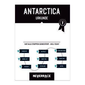 Urkunde - Neverrace Antarctica