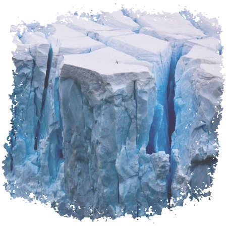 Zerklüftete Eislandschaft - Neverrace Antarctica